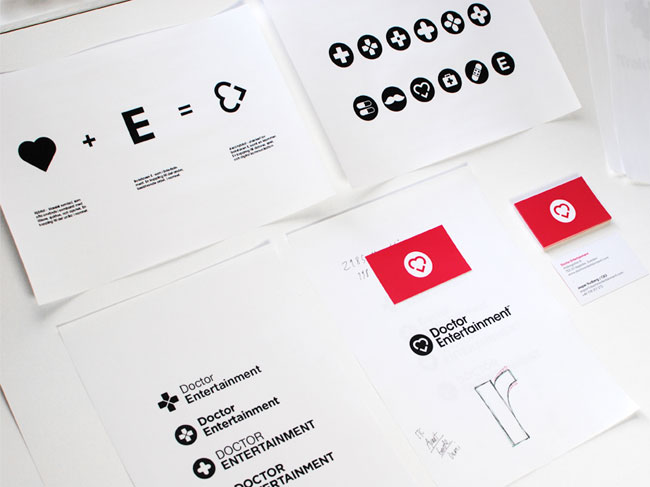 Doctor Entertainment brand identity