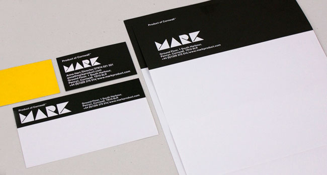 MARK stationery design
