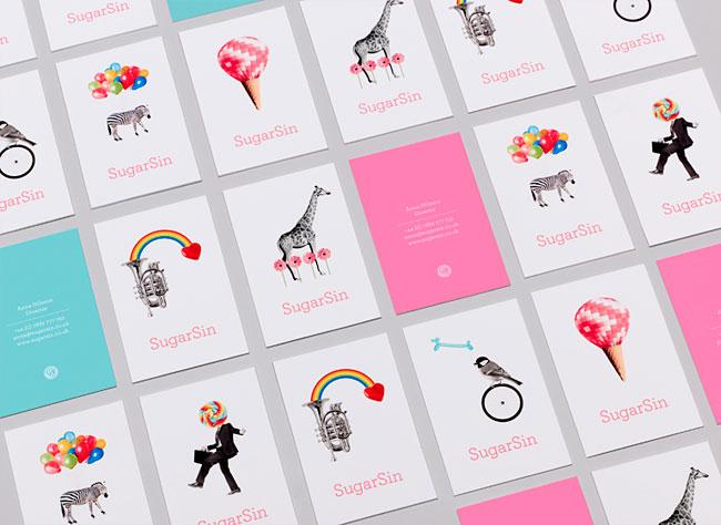 SugarSin brand identity