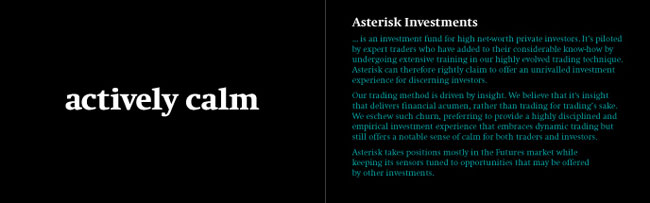 Asterisk Investments identity design