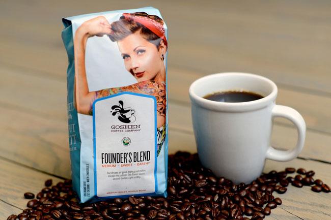 Goshen Coffee packaging