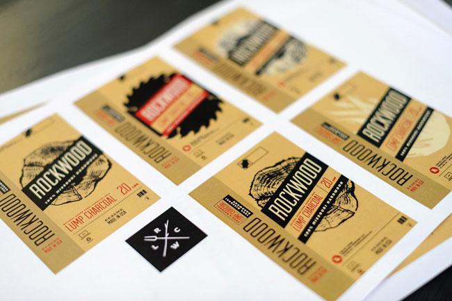 Rockwood Charcoal brand identity design