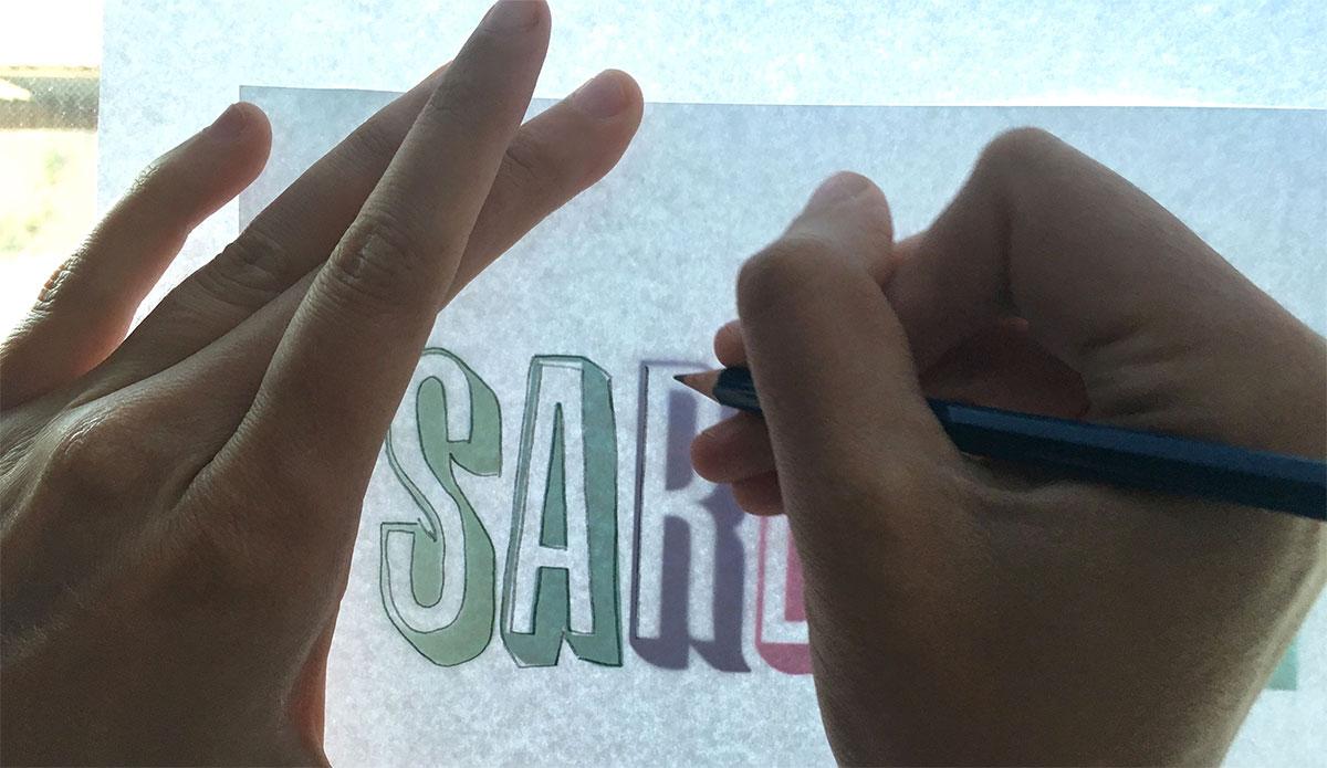 Sardella logo sketch