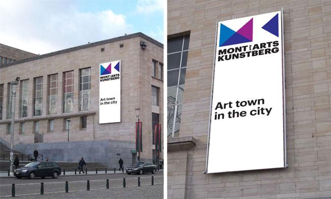 Mont des Arts brand identity