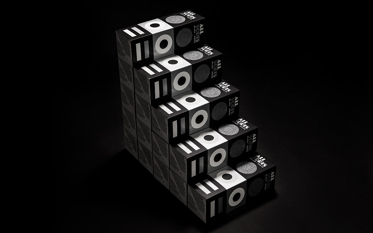Allsorts Black and White packaging