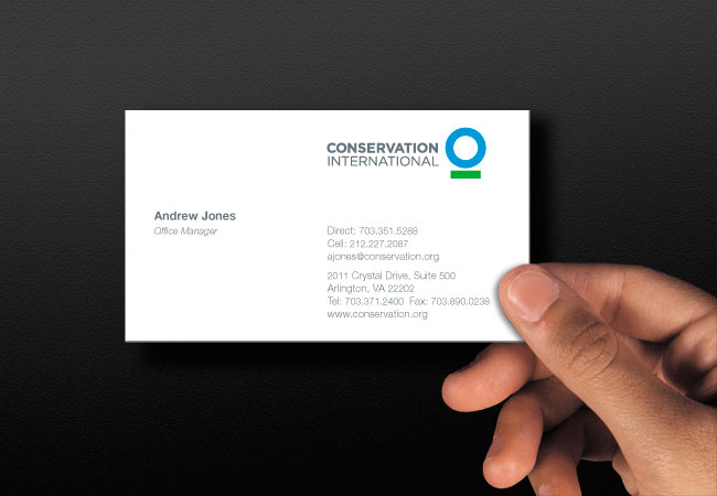 Conservation International business card