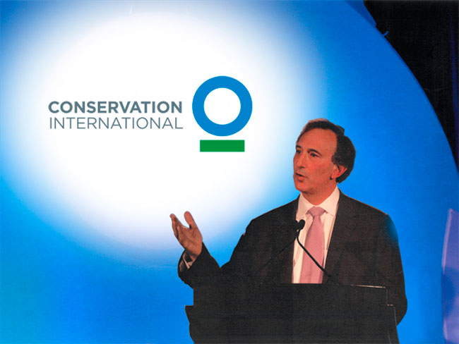 Conservation International podium