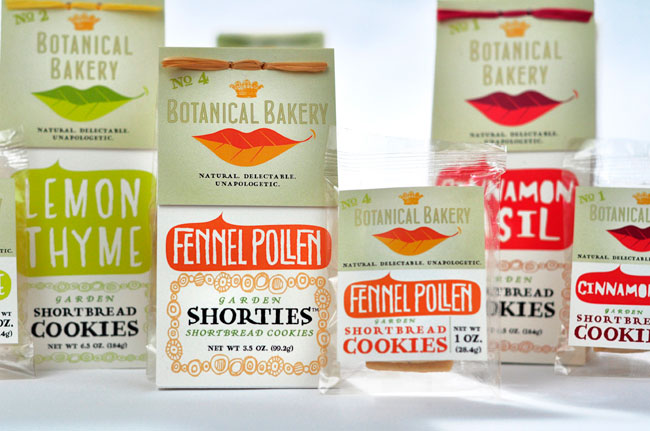 Botanical Bakery packaging