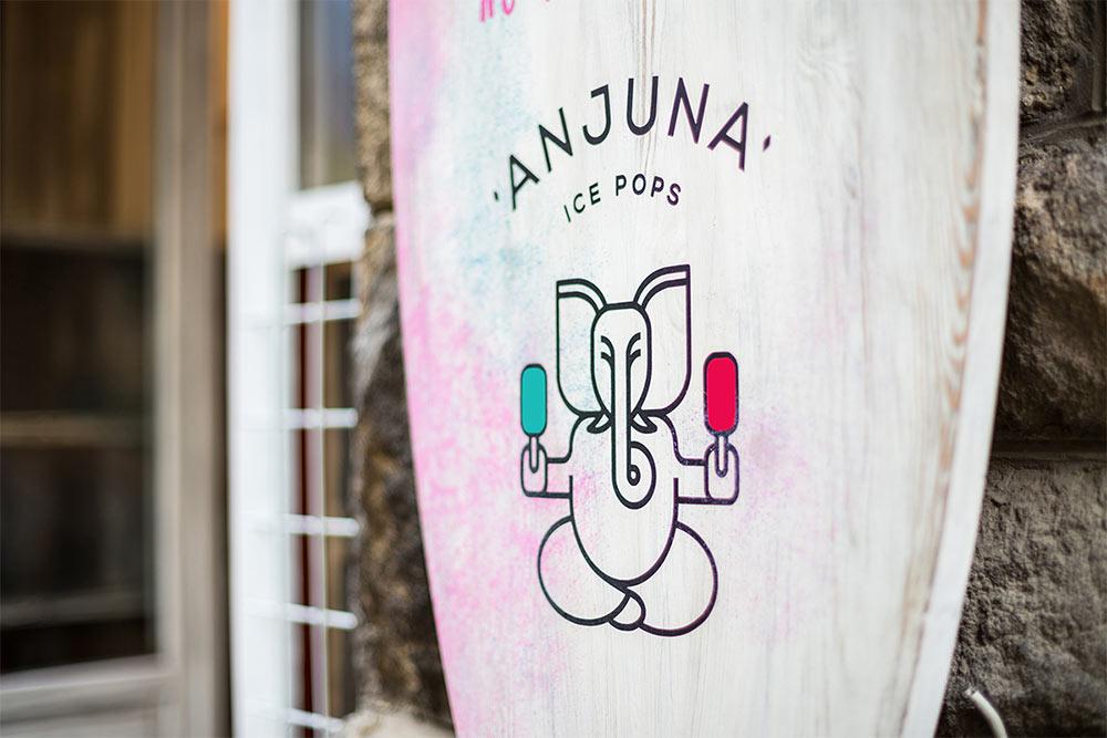 Anjuna Ice Pops identity
