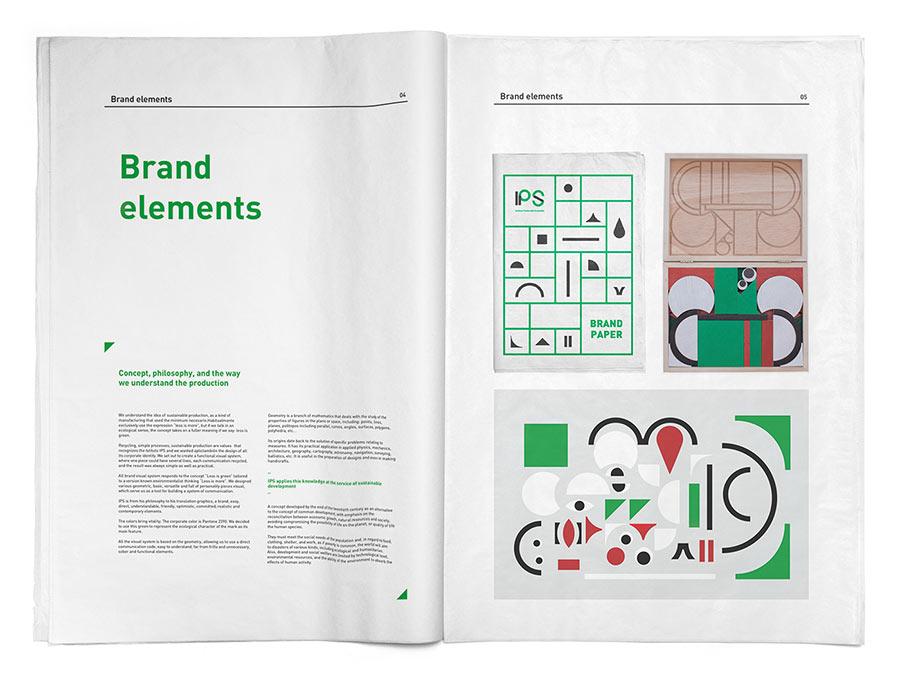 IPS brand identity design