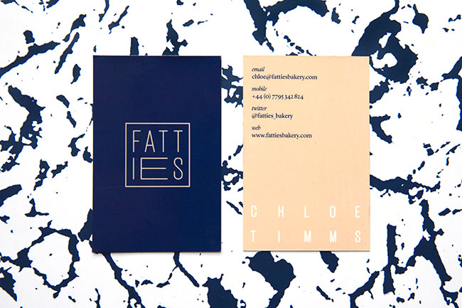 Fatties Bakery identity design