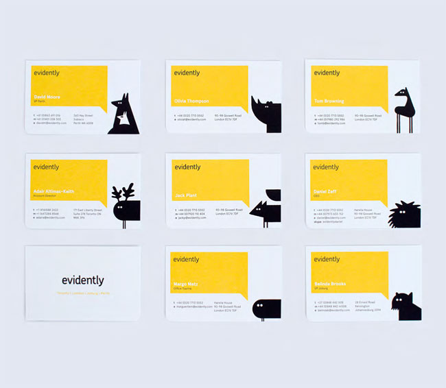 Evidently brand identity design