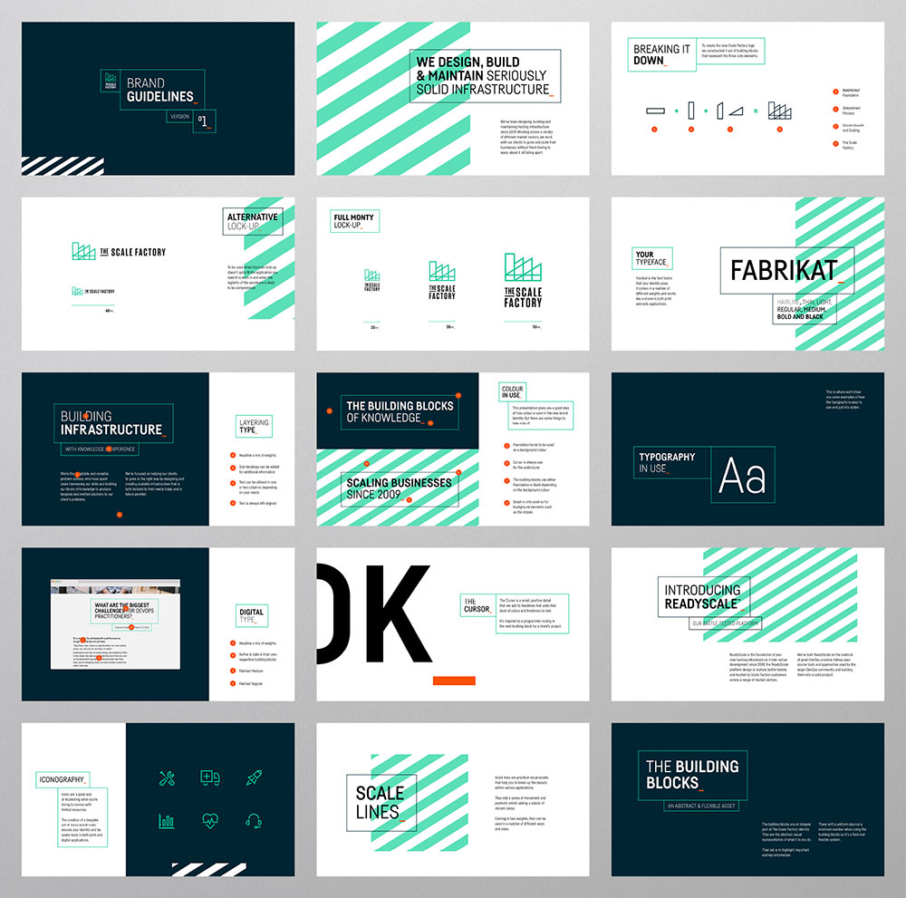 The Scale Factory identity design