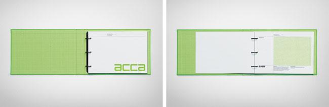 ACCA brand identity design