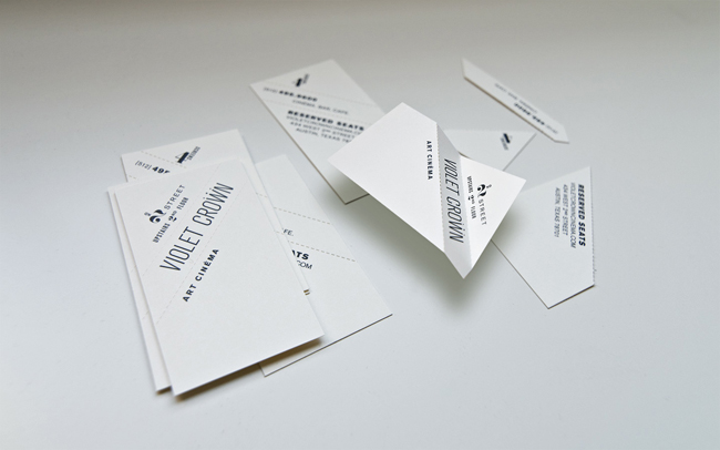 Violet Crown Cinema brand identity design