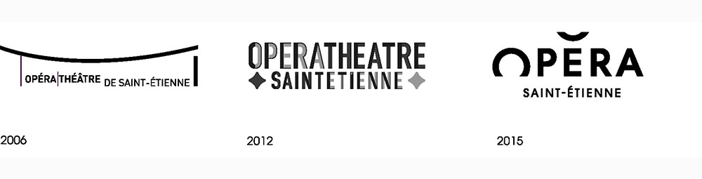 Opera Saint Etienne logo evolution