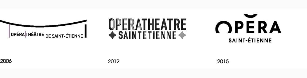 Opera Saint Etienne logo evolution
