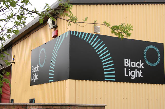 Black Light brand identity