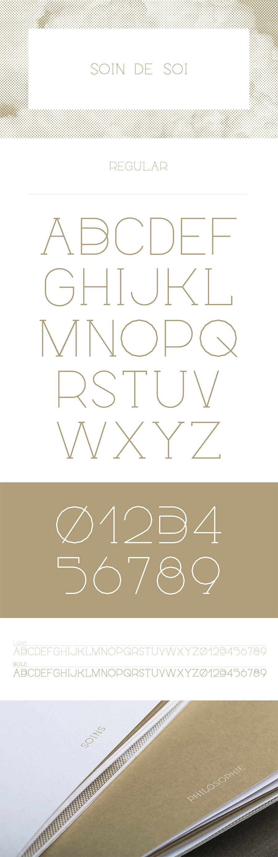 Soin de Soi typography