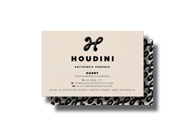 Houdini business card