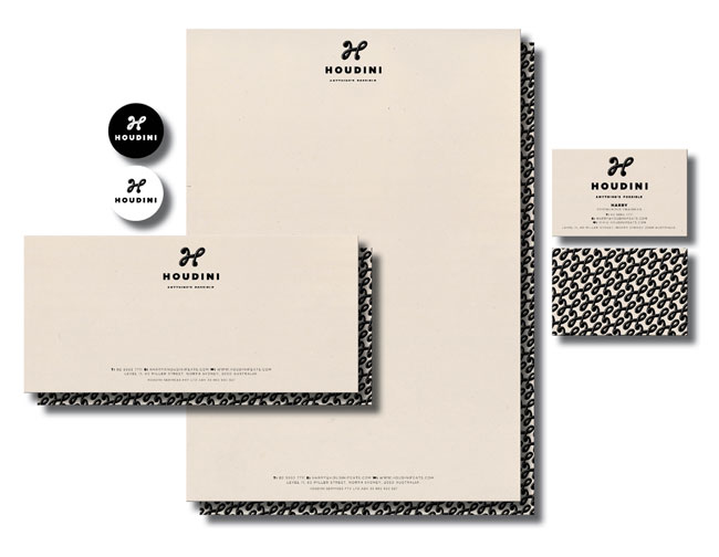 Houdini stationery