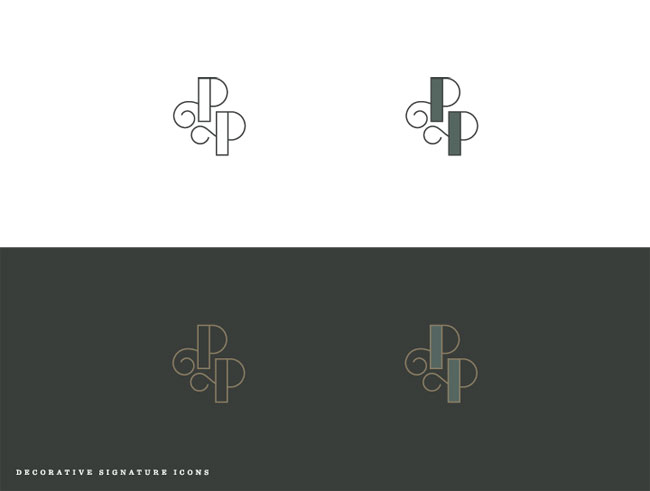 Poogan's Porch identity design