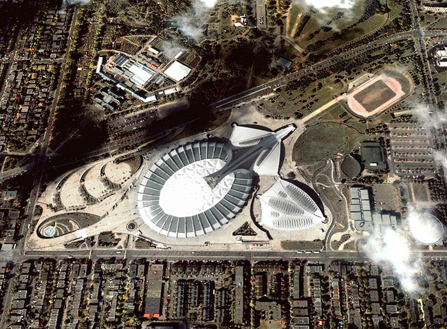 Montréal Olympic Park from above