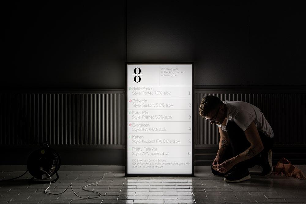 O/O Brewing lightbox