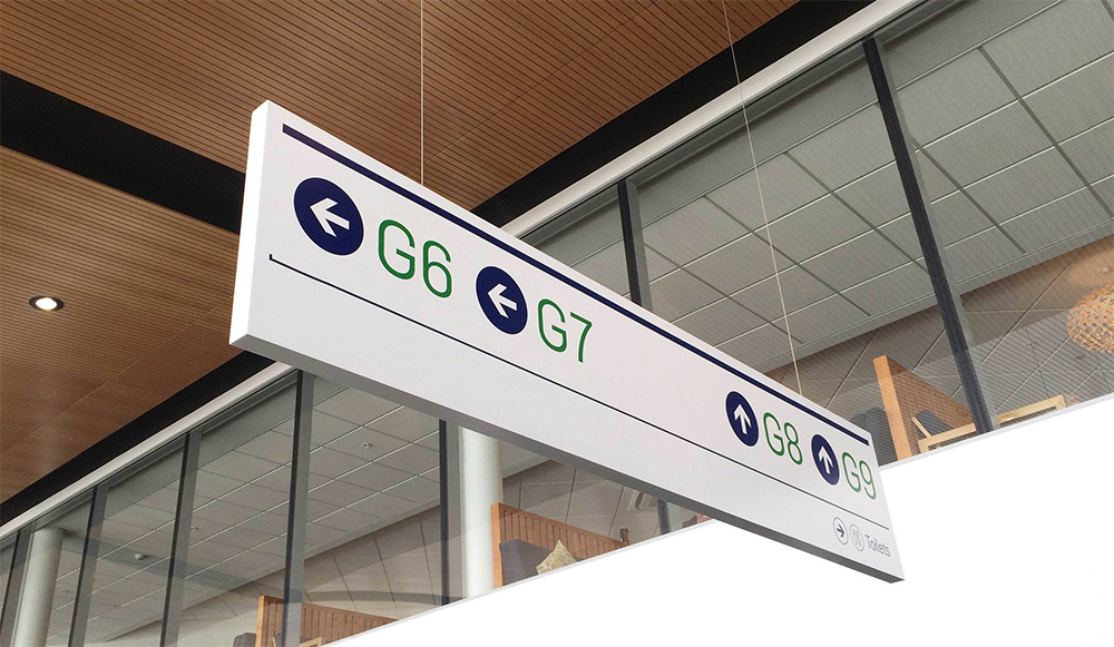 Queenstown Airport identity design