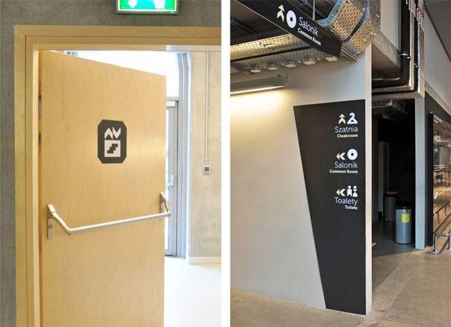 Copernicus Science Centre wayfinding