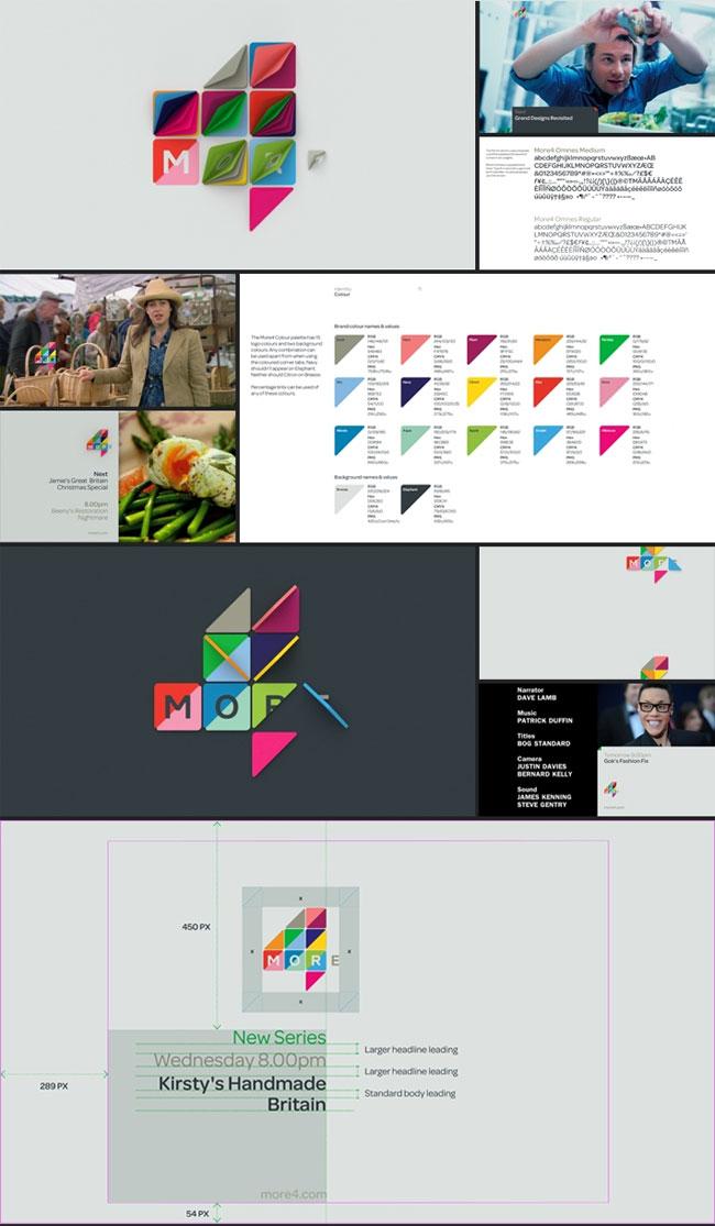More4 brand identity design
