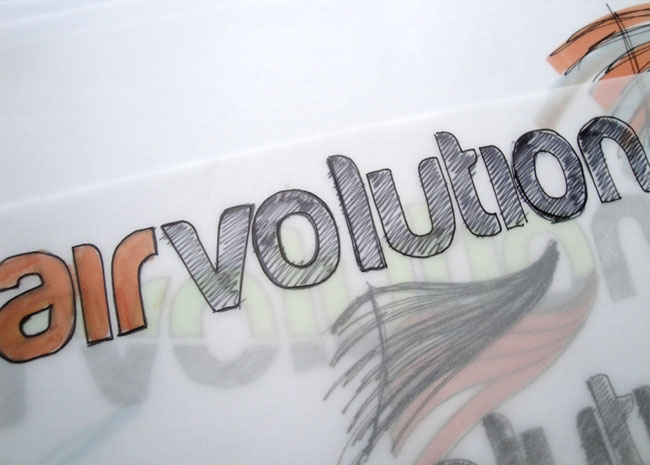 Airvolution logo sketch