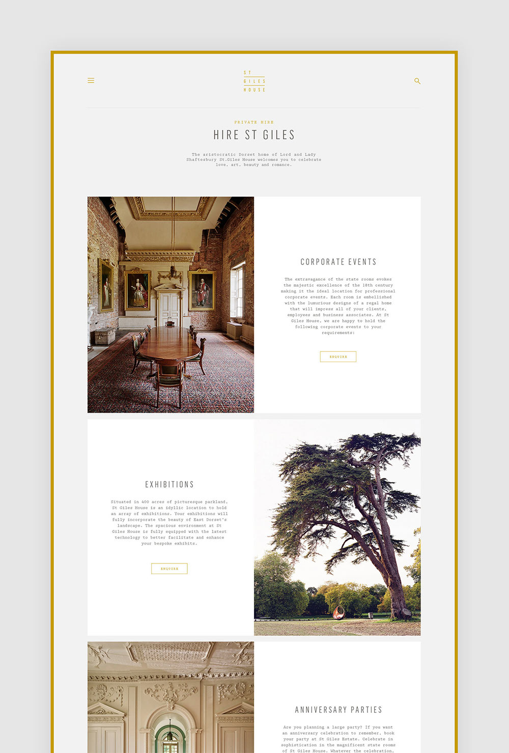 St Giles House identity