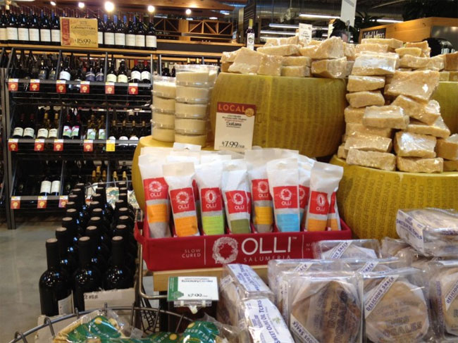 Olli Salumeria packaging