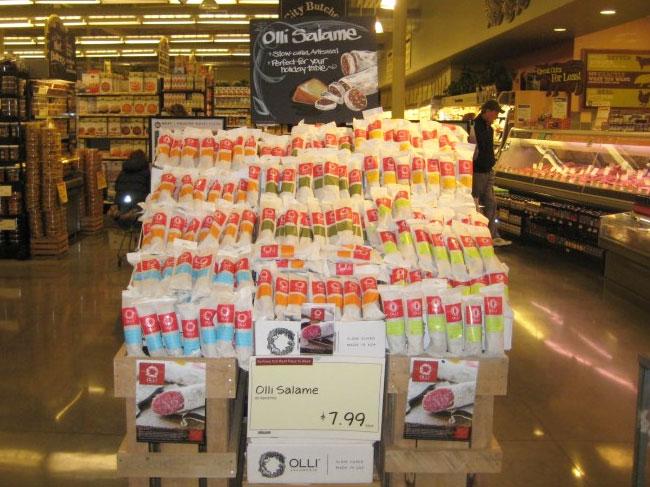 Olli Salumeria packaging