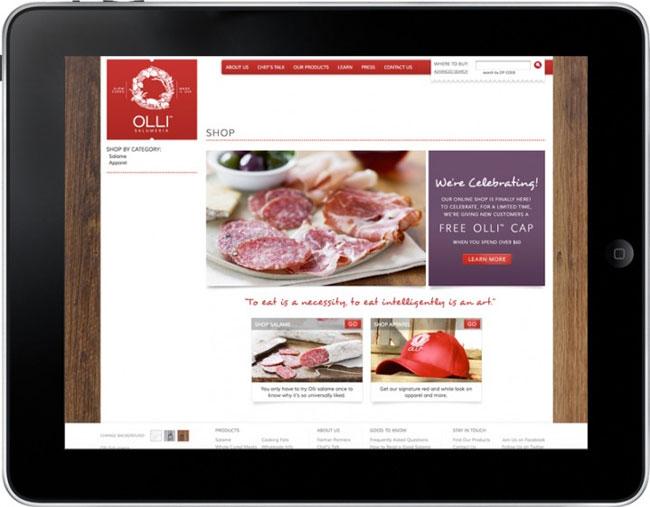Olli Salumeria website