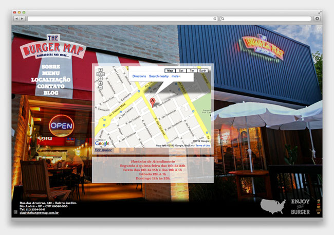 The Burger Map website
