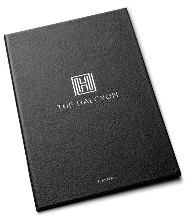 Halcyon Bath drinks menu