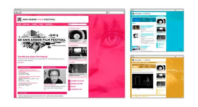 Ann Arbor Film Festival identity design