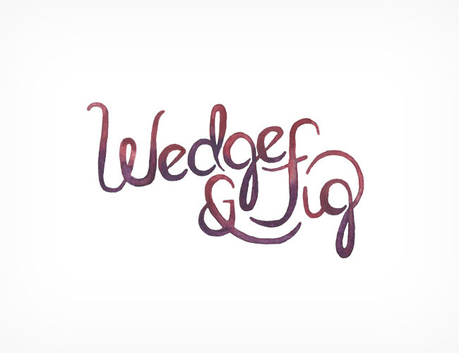 Wedge & Fig brand identity design