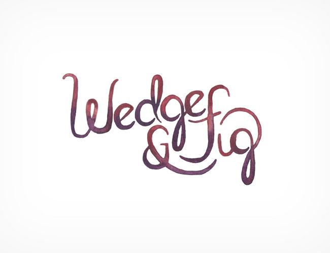 Wedge & Fig brand identity design
