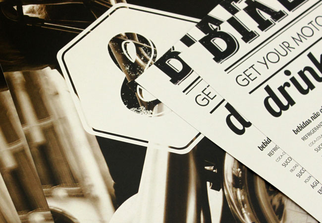 Bros & Bikers Cafe identity design