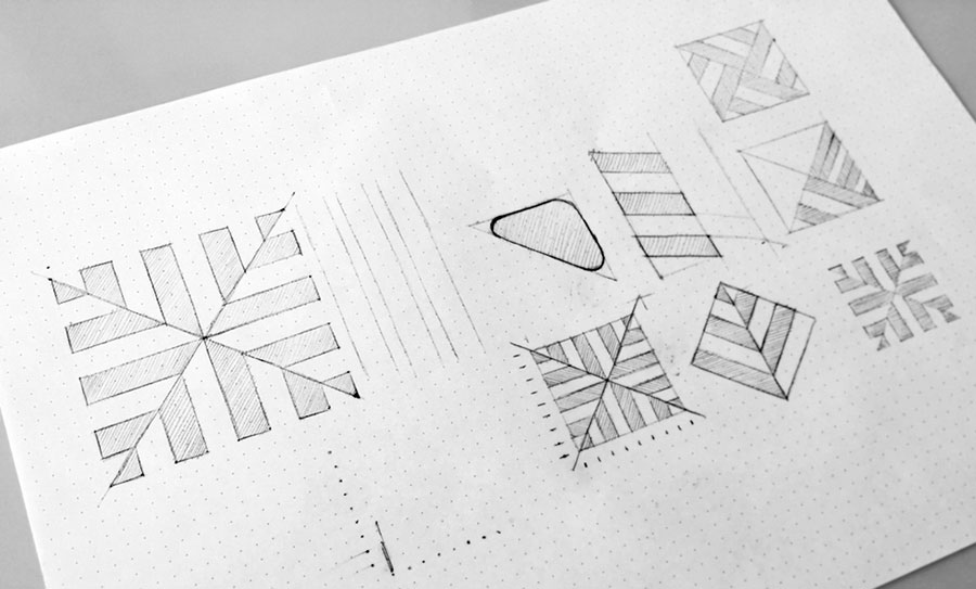 Mercato Piazza Foroni logo sketches