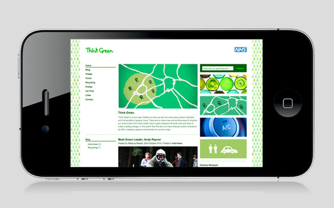 Think Green identity design