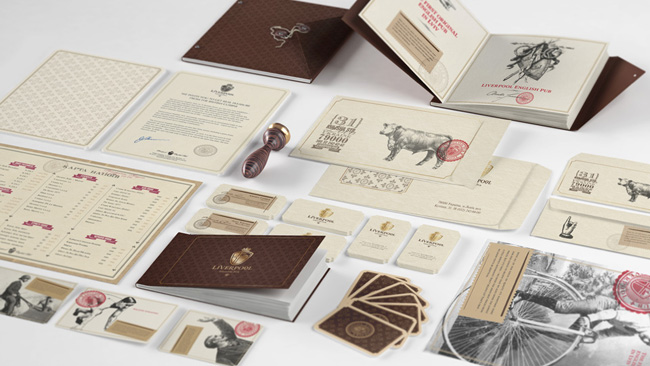 Liverpool English Pub brand identity