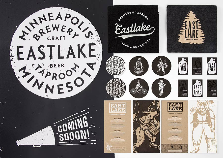 Eastlake Craft Brewery identity design