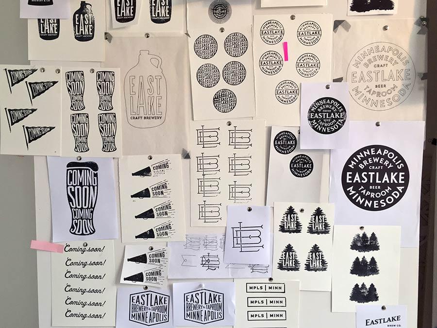 Eastlake Craft Brewery identity design
