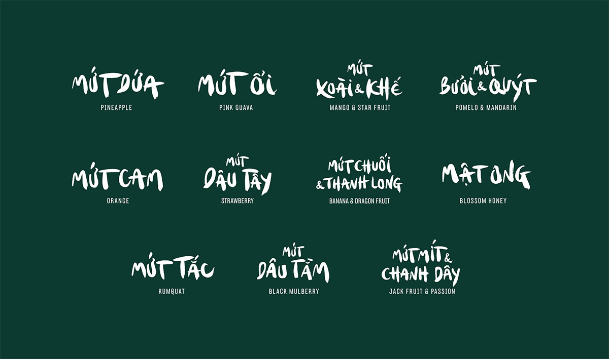 Le Fruit typography