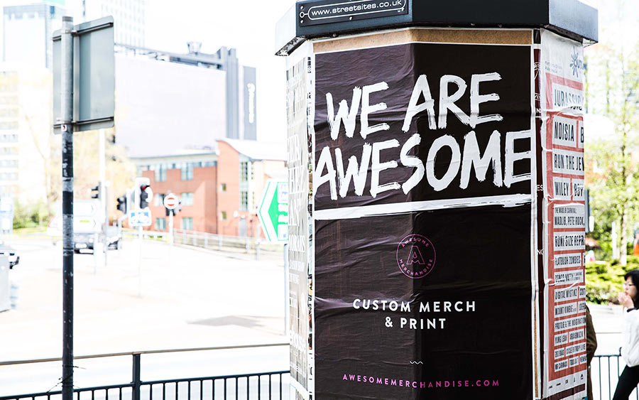 Awesome Merchandise identity design