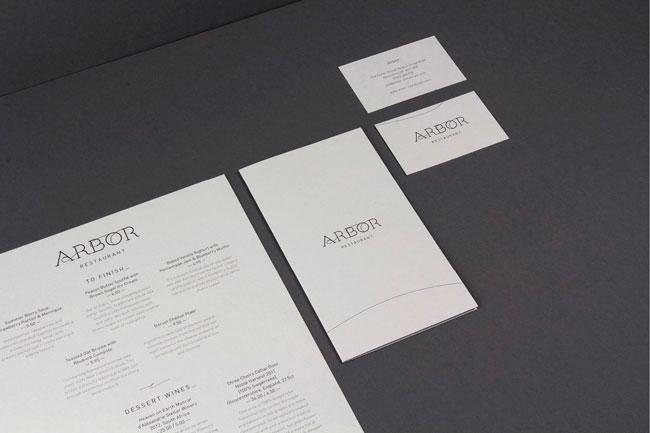 Arbor Restaurant identity design